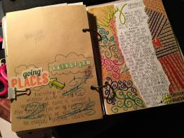 Another sample page- just some drawings and journaling.